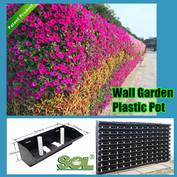 Wall Mounted Planters Plastic Vertical Garden Green Wall