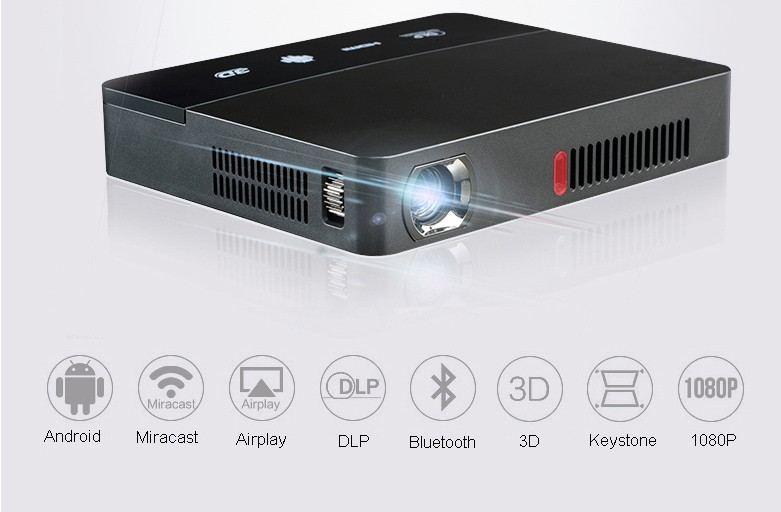 Cheap price full hd video smart mini bluetooth wireless for Bluetooth hdmi projector