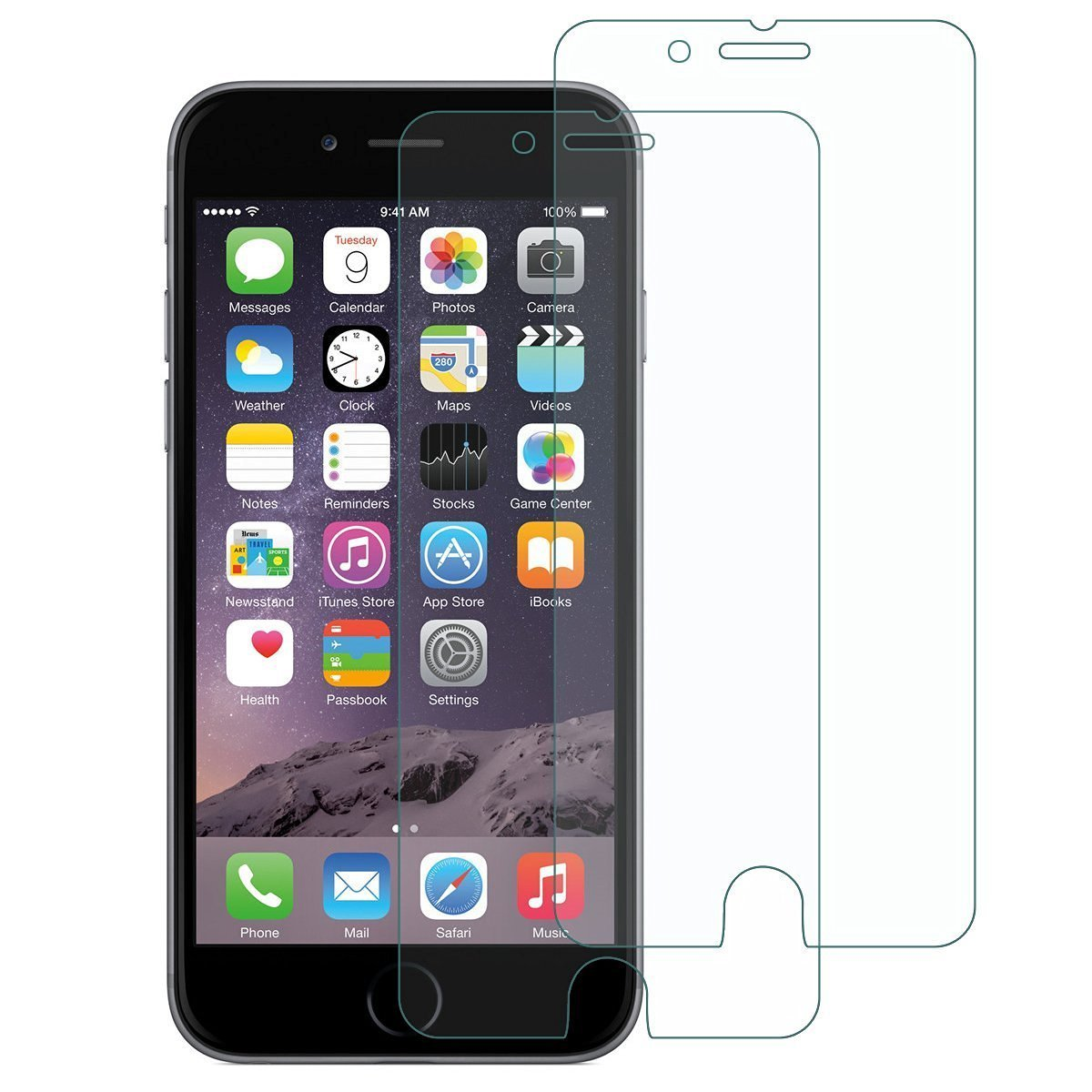 iPhone 7 Protector, KAMII [9H Extreme Hardness] [Anti-Scratch] [Bubble Free] 2.5D Tempered Glass Screen Protector, [Anti-Fingerprint] [Ultimate Clarity], for Apple iPhone 7 (2 Pack)