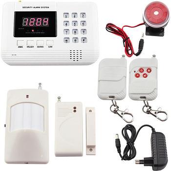 Для дома безопасность охранной GSM сигнализация система жк-дисплей беспроводная GSM / PNTS / SMS / вызовов автодозвон голосовой для дома безопасность сигнализация система