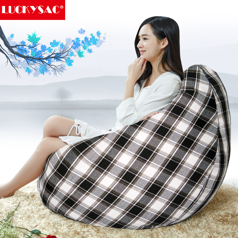 Home Furniture General Use and Living Room Furniture,One Seat Type massage bean bag with black-white grid design