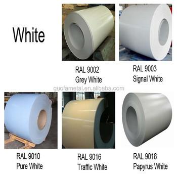 recubierto de color ral 9002 9003 9010 9016 9018 blanco chapa de acero ppgi buy blanco chapa. Black Bedroom Furniture Sets. Home Design Ideas