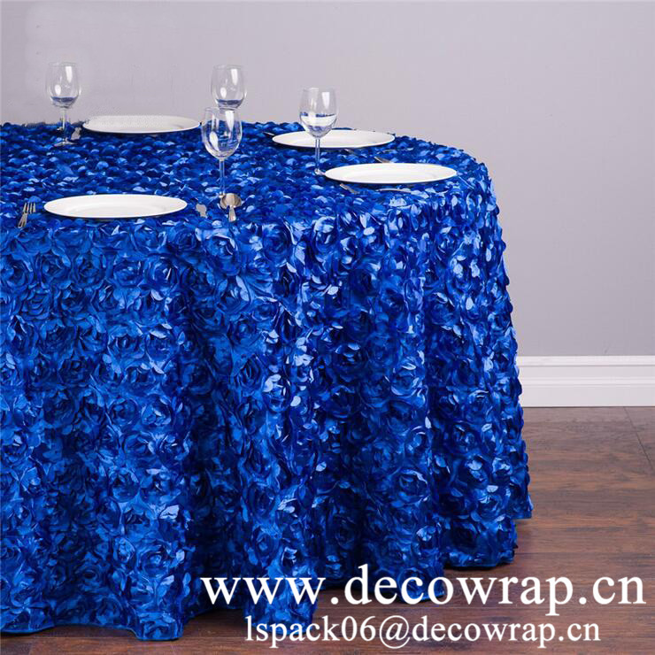3D rosette table covers wedding decoration