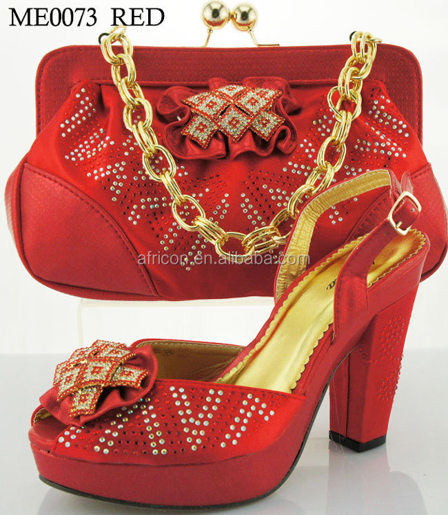 Green Latest Design Italian Shoes And Bag Set Leather High Heel To Match