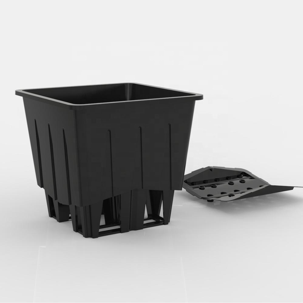Plantlogic dutch bato bucket substrate pot system for greenhouse