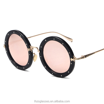 2016 New Style Rounded Sunglasses Old School Style Rivet Glasses ...