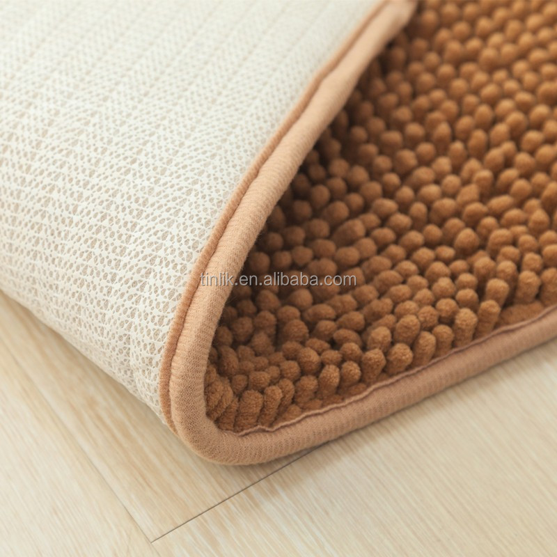 Factory Wholesale Cheap Stock Hot-selling Anti-slip Microfiber Chenille Mat