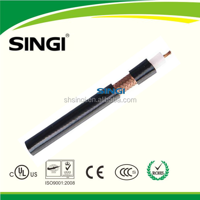SYV-75-7 RG11 GB standard 75 ohm solid PE insulated RF coaxial cable