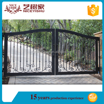 simple modern wrought iron gate for villa philippines gates and rh alibaba com