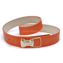 Female Western Shiny Buckle Rhinestone Bow Metal Plate Waist Belt