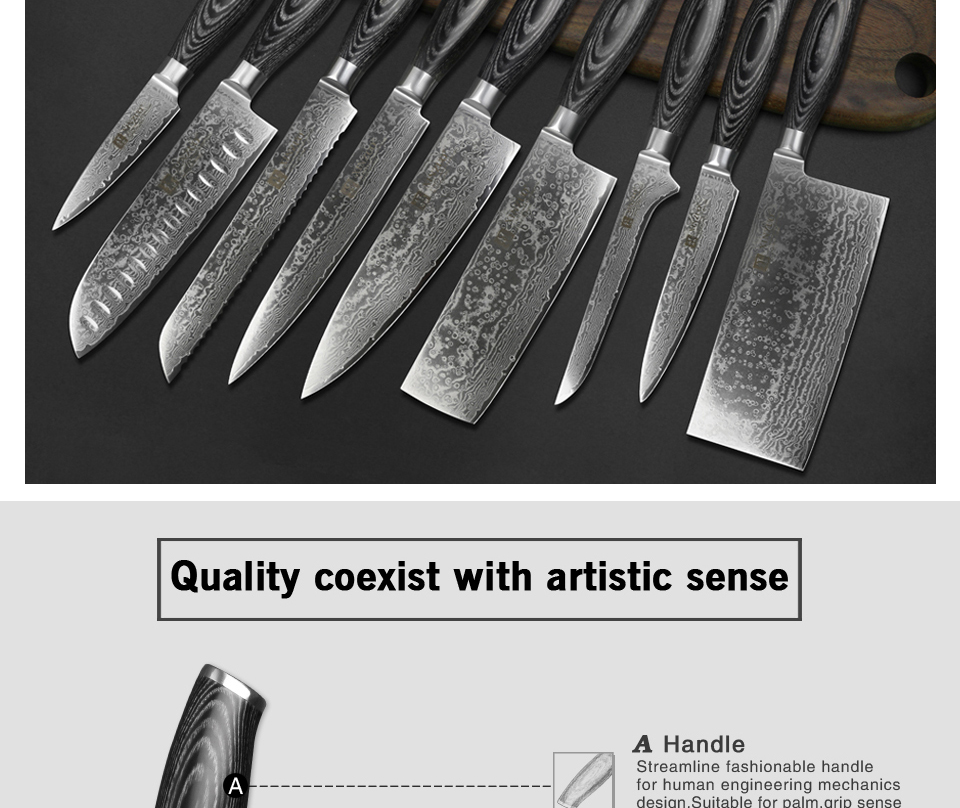 "HTB1hbF6g3fH8KJjy1zcq6ATzpXaR - XINZUO 3.5"" inch Paring Knife 67 layers Japan Damascus Steel Peeling Fruit Knife"