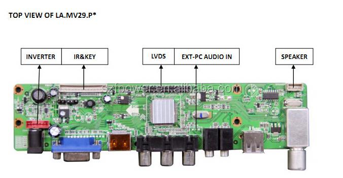 e2c2f679f8d universal lcd controller board tv motherboard with hdmi support HDMI+AV+VGA +Audio