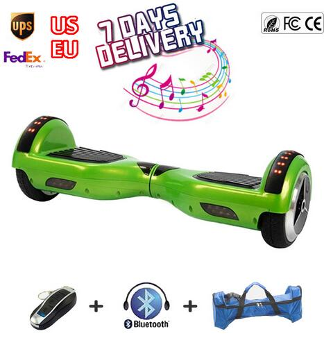 Green Hoover Board Bluetooth Electric Self Balancing Scooter Drifting
