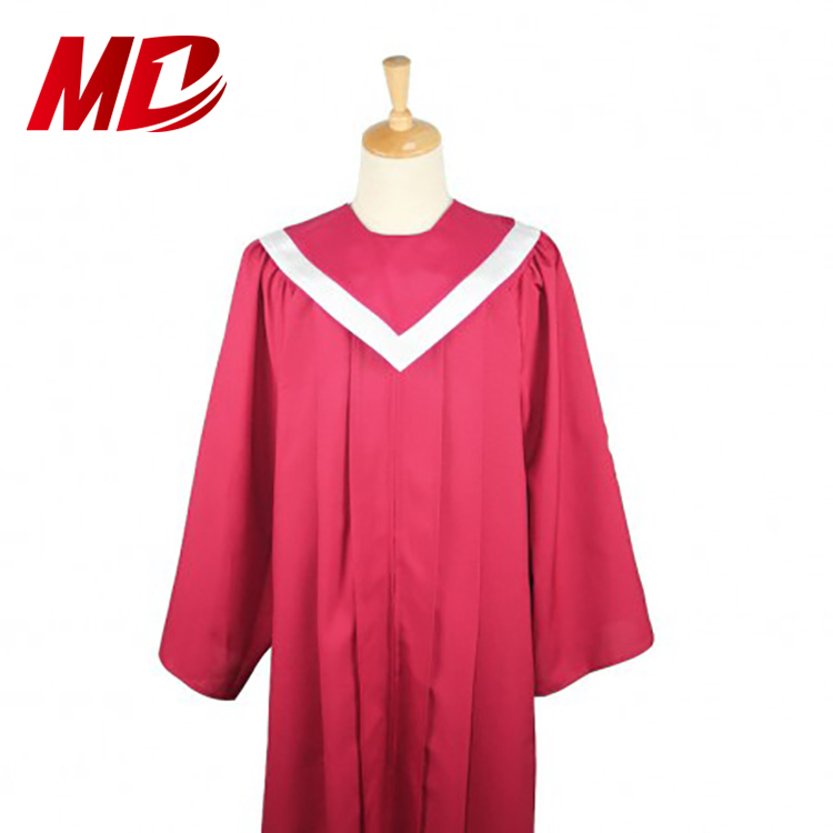 Reversible Choir stole with Border Maroon and White