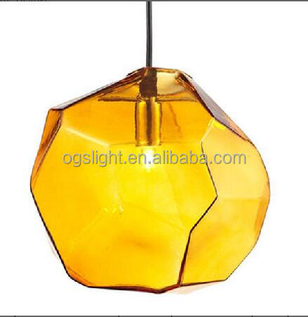 China glass pendant lights orange wholesale alibaba 2018 simple orange led pendant lamp yellow glass chandelier lighting lamp for bedroom home office decor aloadofball Image collections