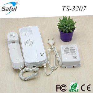 Saful Cheap wired two-way audio intercom door phone with unlock control