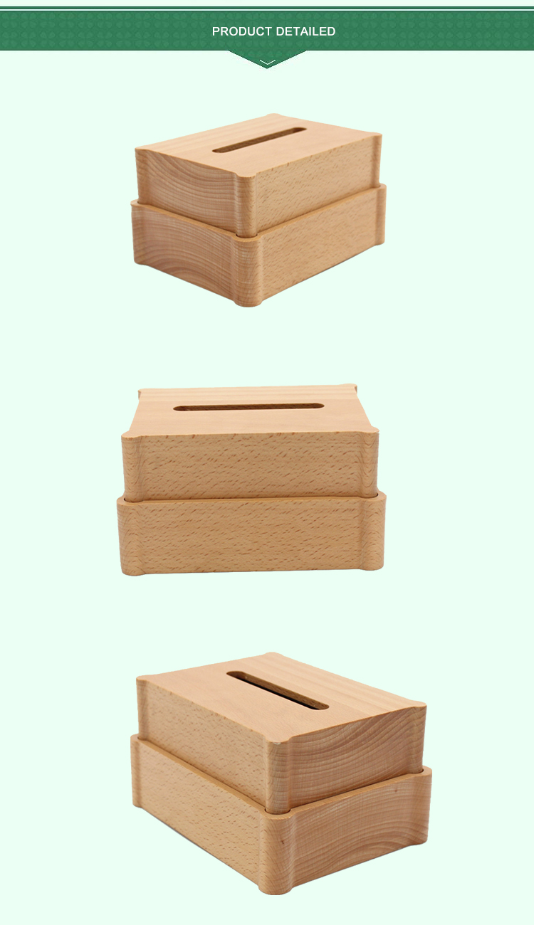 customized wooden tissue box cover wooden tissue paper box bamboo tissue box