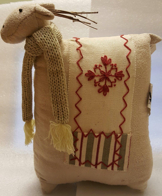 Plump Snowflake Moose Pillow Holiday Decoration Plush Stuffed Reindeer Coldwater Creek