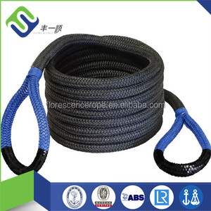 "1/2"" nylon double braided recovery rope 7300lbs breaking strength for snowmobiles"