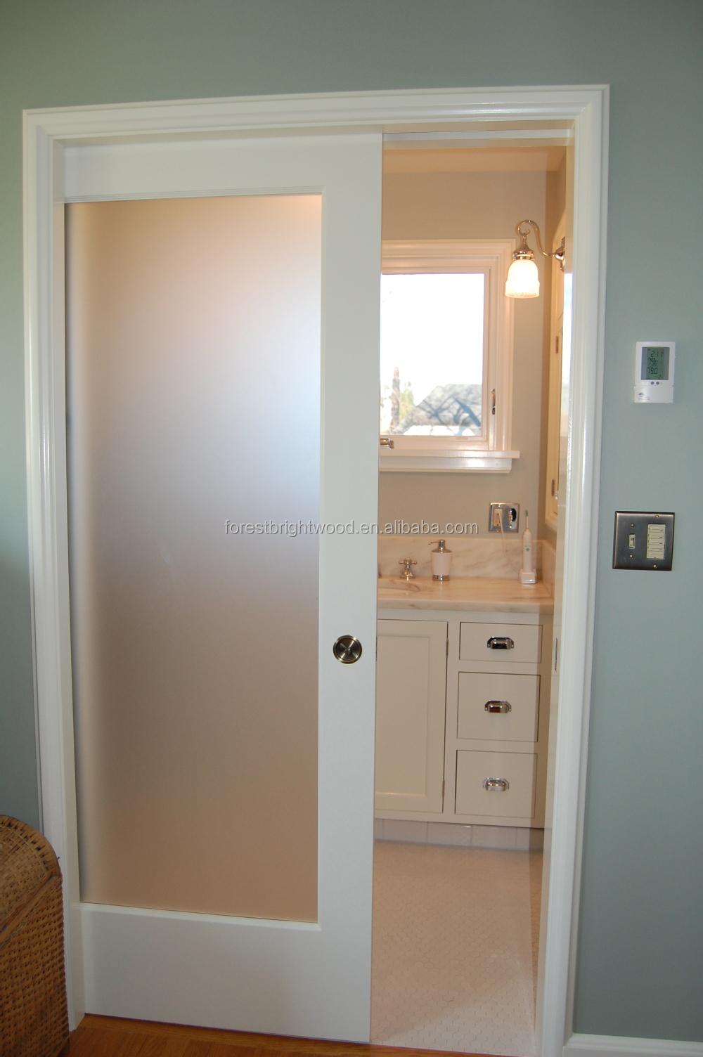 Frosted Glass White Pocket Door Design For Bathroom Buy