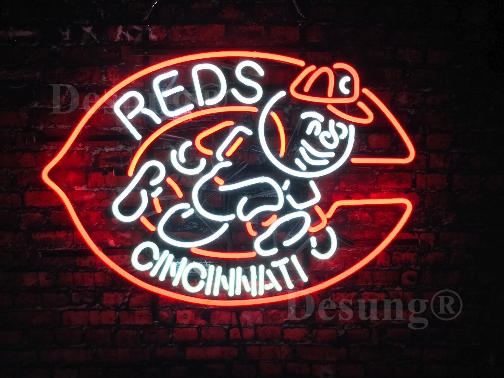 """Desung New 24""""x20"""" Sports CR Team Neon Sign Man Cave Signs Sports Bar Pub Beer Neon Lights Lamp Glass Neon Light DX09"""