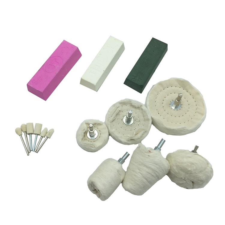 14-Piece Set of Assorted Buff kits for Buffing, Polishing & Cleaning