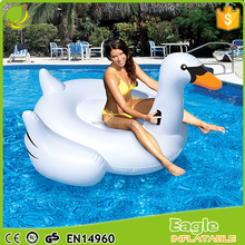 2017 new giant inflatable floating swan pool floats summer swimming rafts