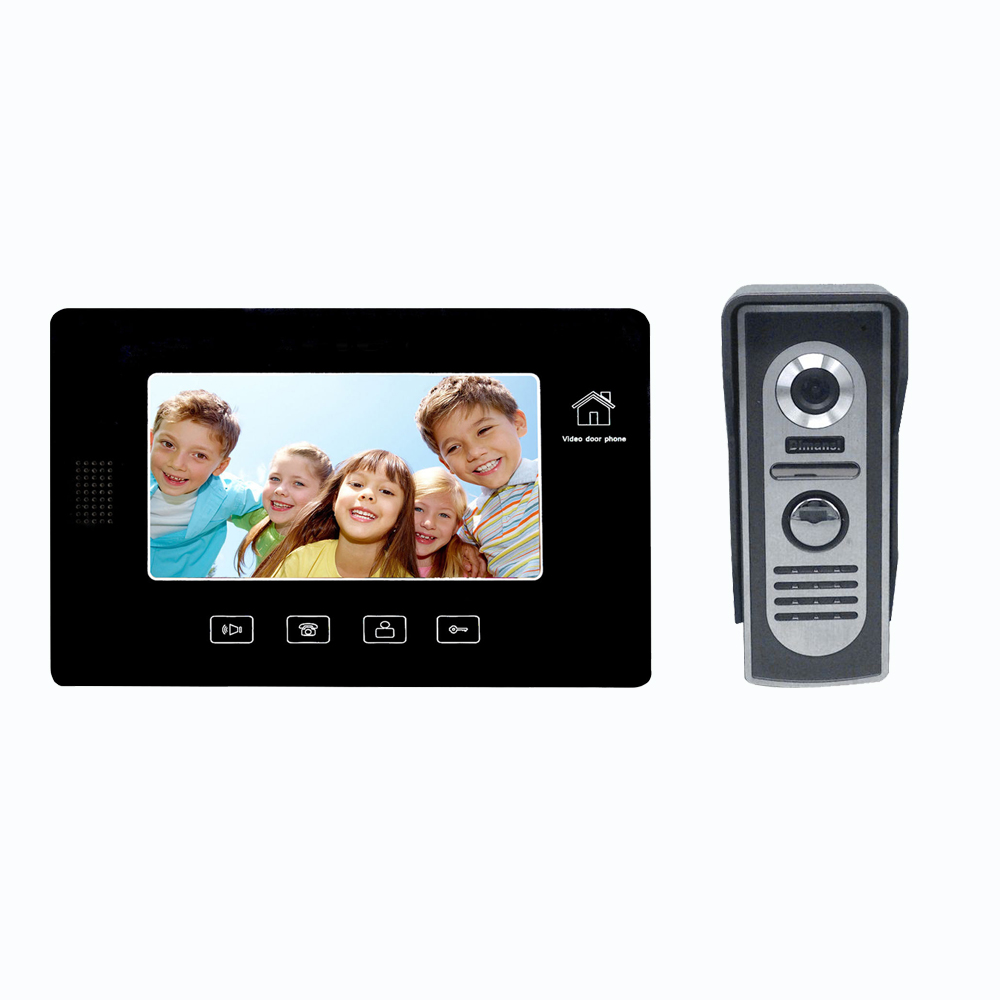 visual / non-visual apartment video door bell interphone with Monitor, intercom, unlock function for multi-department
