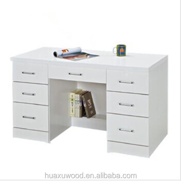 Superior Hx Mz806 China Factory Price Sale White 7 Drawer Study Table   Buy White  Computer Desk,Multi Drawers Study Table,Wooden Mdf Computer Desk Product On  ...