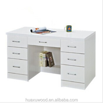 Delicieux HX MZ806 China Factory Price Sale White 7 Drawer Study Table