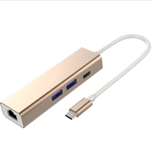 <span class=keywords><strong>USB</strong></span> 3.1 סוג C כדי רכזת 3 יציאת Gigabit Ethernet <span class=keywords><strong>מתאם</strong></span>