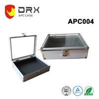 portable aluminum briefcase tool box with transparent lid