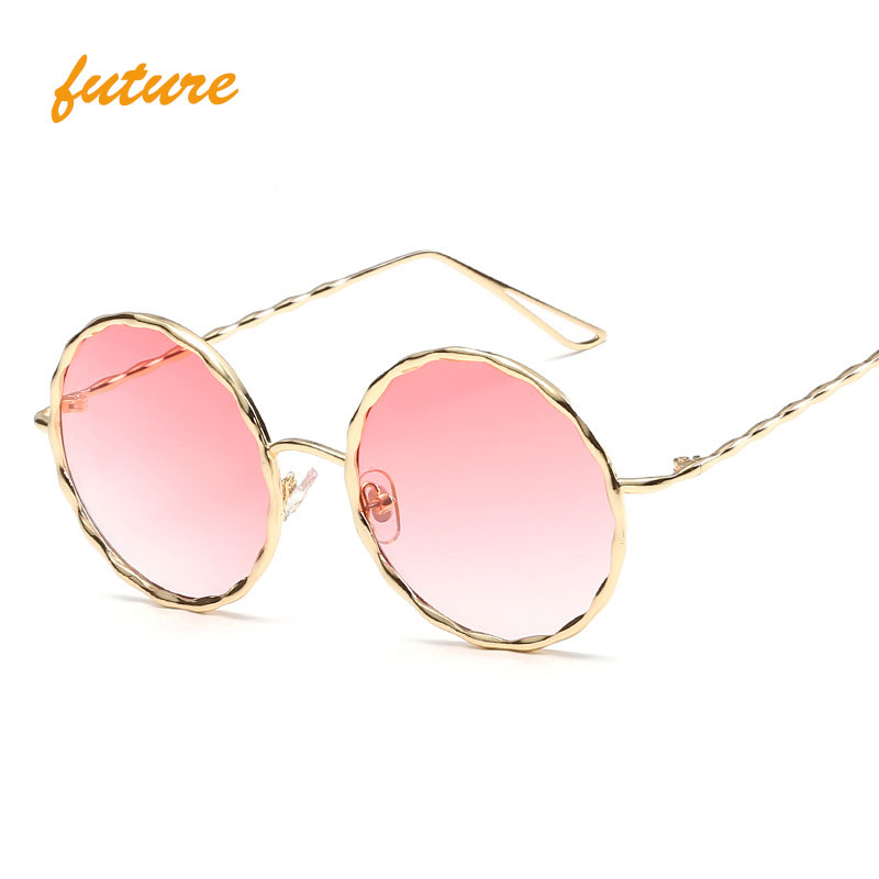 2017 Ocean Clear oculos Wave Vintage Brand Designer female Fashion gafas de sol round sunglasses for women
