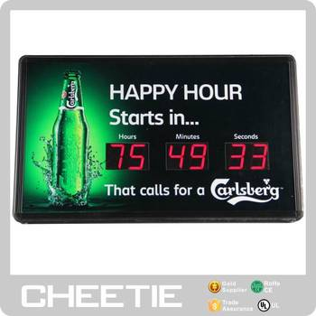 Promotional Large 6 Digit Countdown Timer Lighted Led