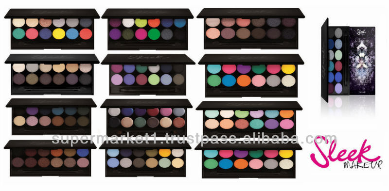 sleek make up eye shadow palette idivine range all shades