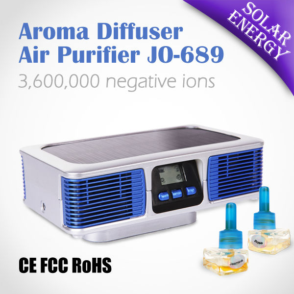Best Price Solar Car Ionic Air Purifier JO-689 (Automatic Changing Odor Fragrance)