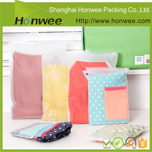 ziplock t shirt plastic packaging bags for garment view clear pvc bag honwee product details. Black Bedroom Furniture Sets. Home Design Ideas