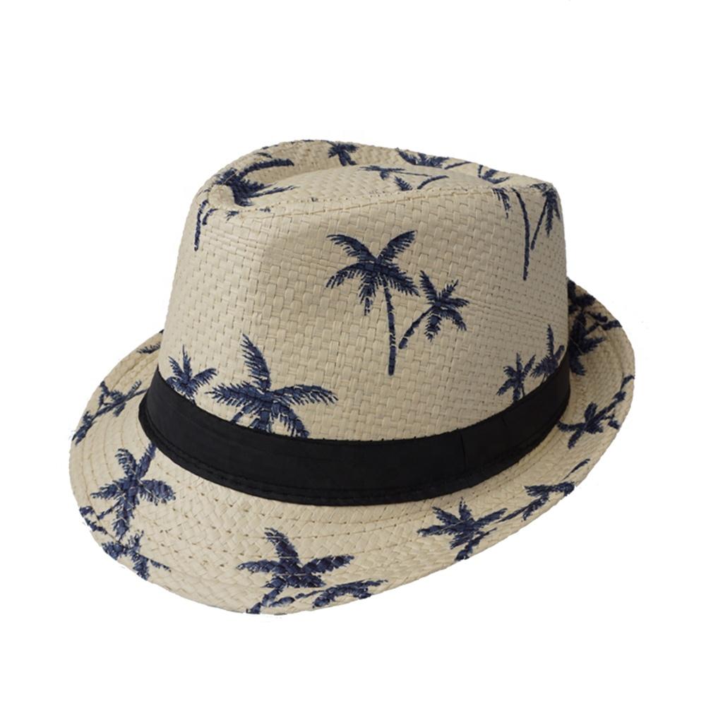 Stock Summer Paper Straw Fedora Men Hat