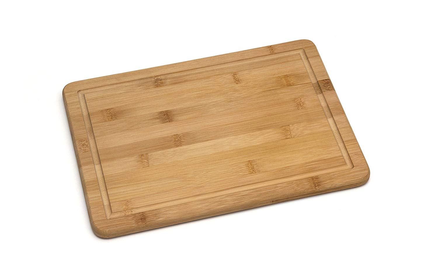 """Lipper International 8817 Bamboo Wood Kitchen Cutting and Serving Board with Non-Slip Cork Backing, Medium, 13-3/4"""" x 9-3/4"""" x 5/8"""""""