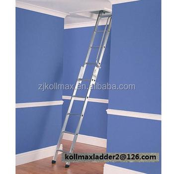 Aluminium Sliding Loft Ladder 2 Sections Attic Extending
