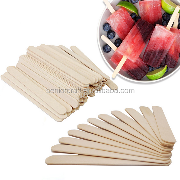 Natural Wood Flat edge wooden ice cream sticks birch wood popsicle sticks