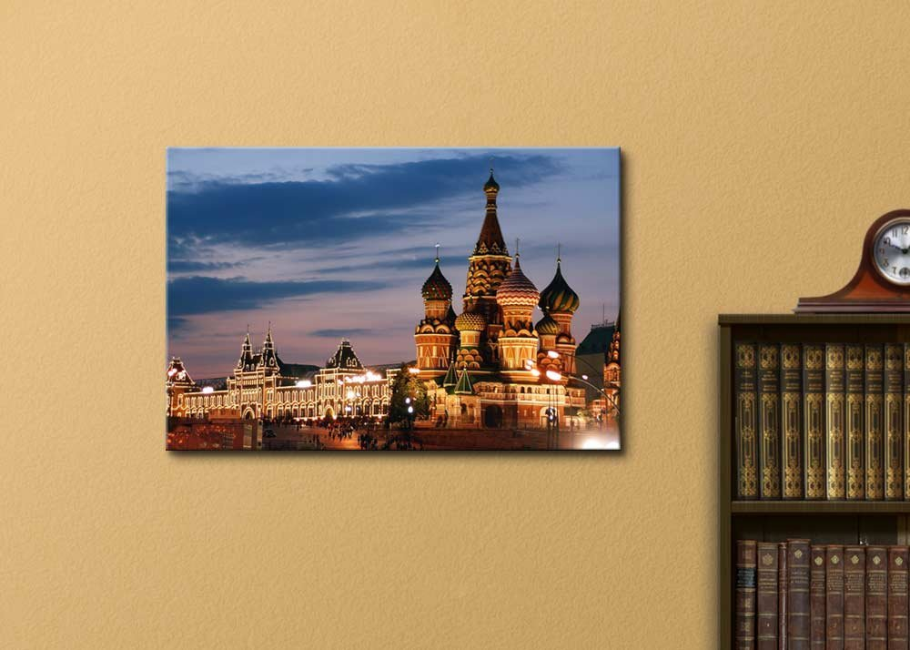 Canvas Prints Wall Art Russia Moscow St Basil Cathedral Red Square Modern Wall Decor Home Decoration Stretched Gallery Canvas