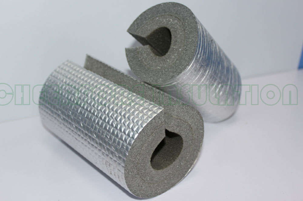 Heat Insulation Rubber Xpe Foam Pipe For Air Duct Hvac