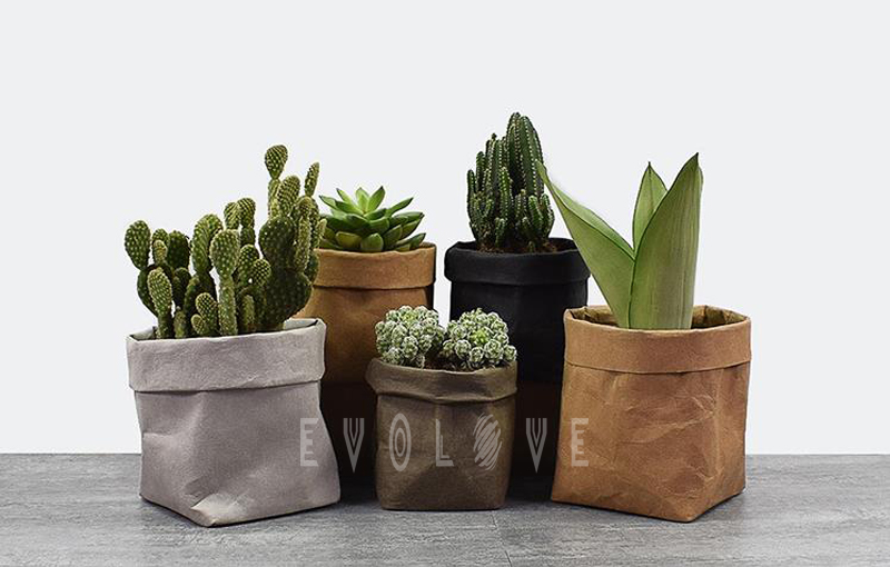Durable indoor flower grow washable kraft paper pot covers