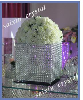 gorgeous silver wedding decorative crystal invitation card box zt