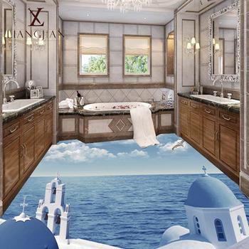 Große Menge 3d Verglaste Badezimmer Blau Projektmaterial Bodenmotiv ...