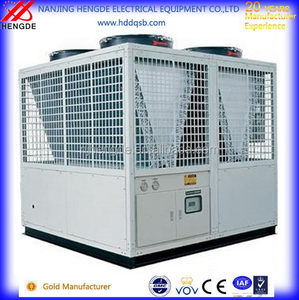 Newly V-shape double compressor air cooled industrial screw carrier chiller
