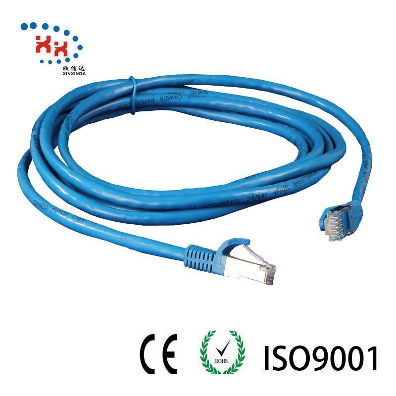 pvc cm 40G bps SSTP CAT8 ethernet flylead patch cord cable
