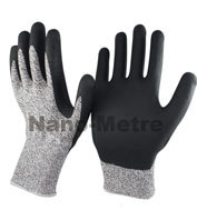 Nmsafety Yellow Aramid Fibers Glove Leather Palm Cut Level 5