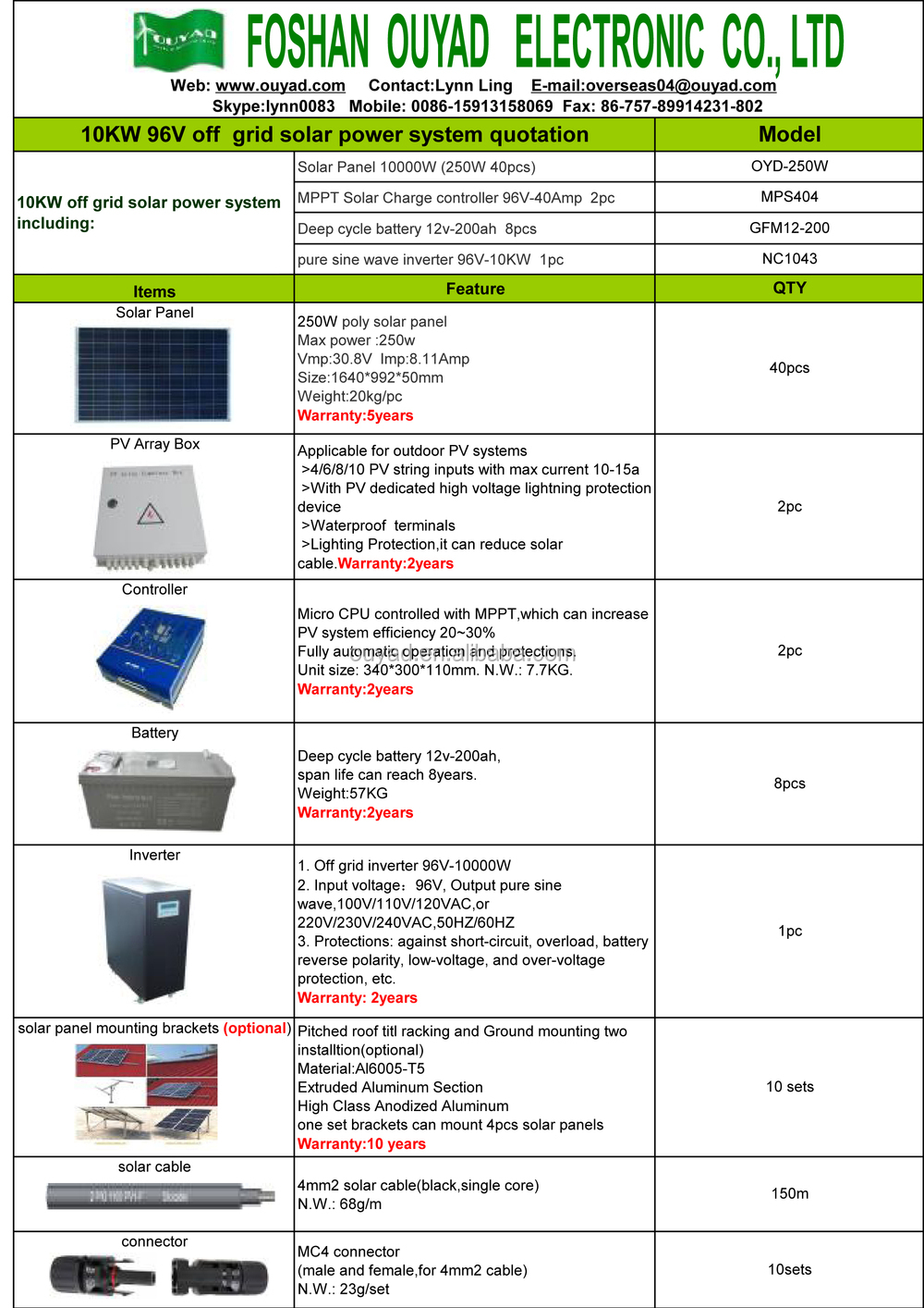 1 Kw Off Grid Residential Solar Power System For Home In